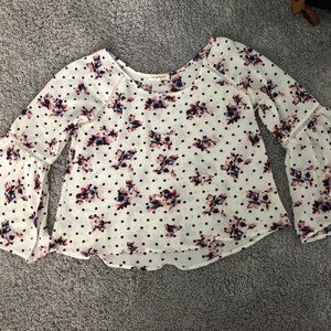 Living Doll Dot and Floral Blouse